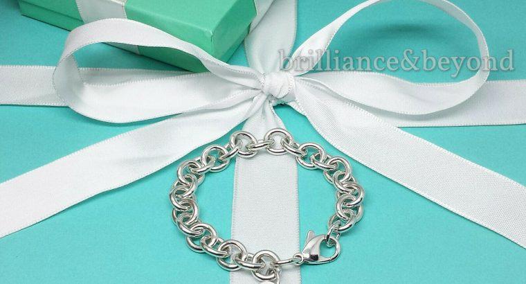 Tiffany & Co. Heart Tag Charm Bracelet Chain 925 S